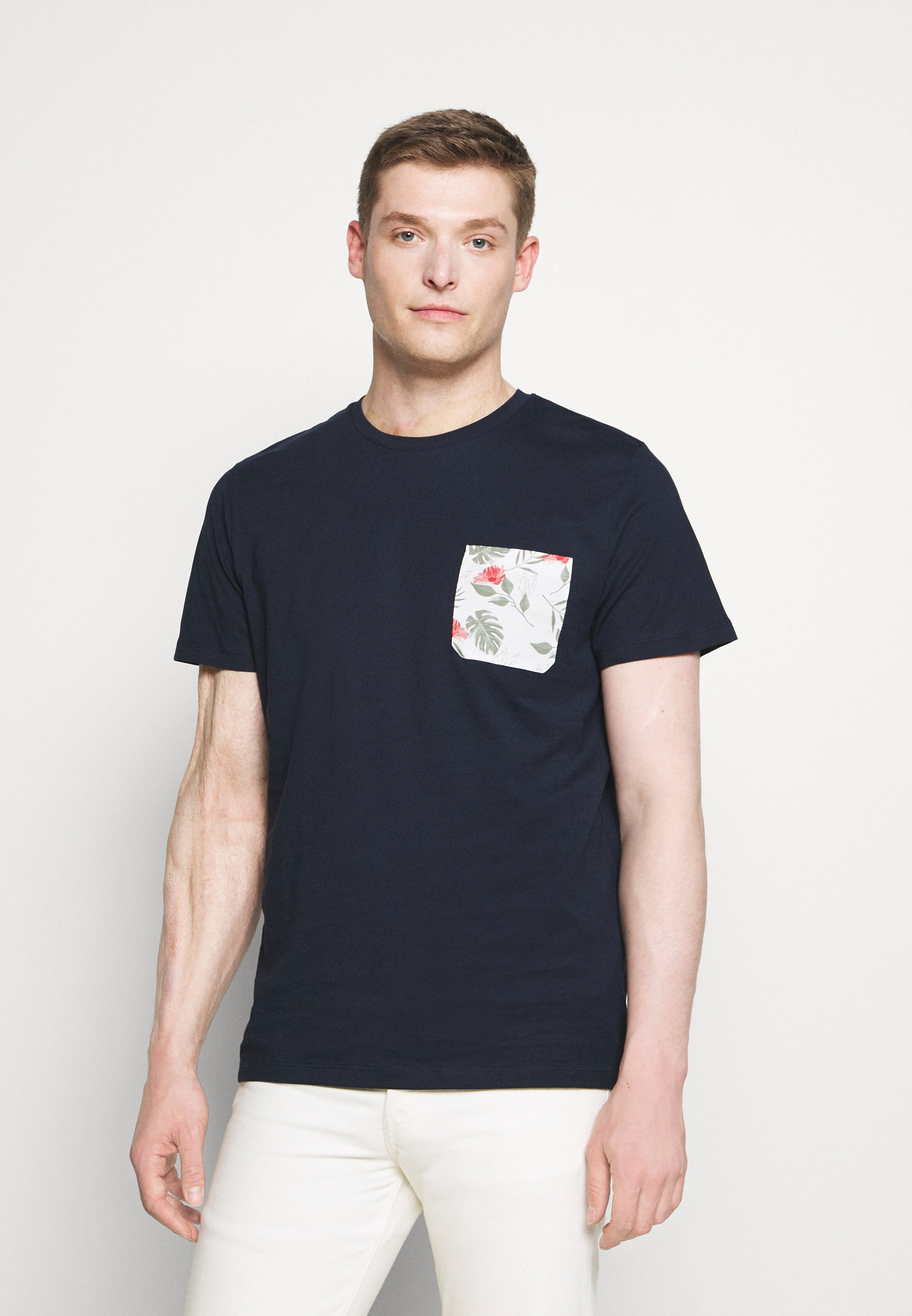 Men SLHREGFLORAL POCKET TEE - Print T-shirt