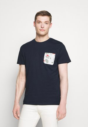 SLHREGFLORAL POCKET TEE - Print T-shirt - navy blazer