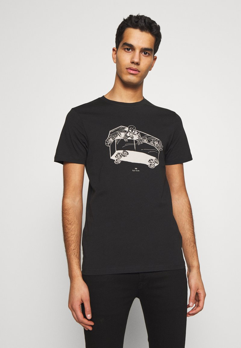 PS Paul Smith - SLIM FIT COFFIN - T-shirts med print - black