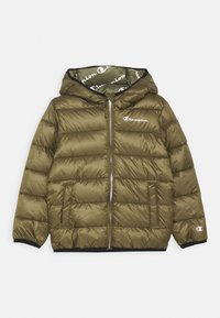 Champion - LEGACY OUTDOOR HOODED JACKET UNISEX - Zimní bunda - khaki - 0