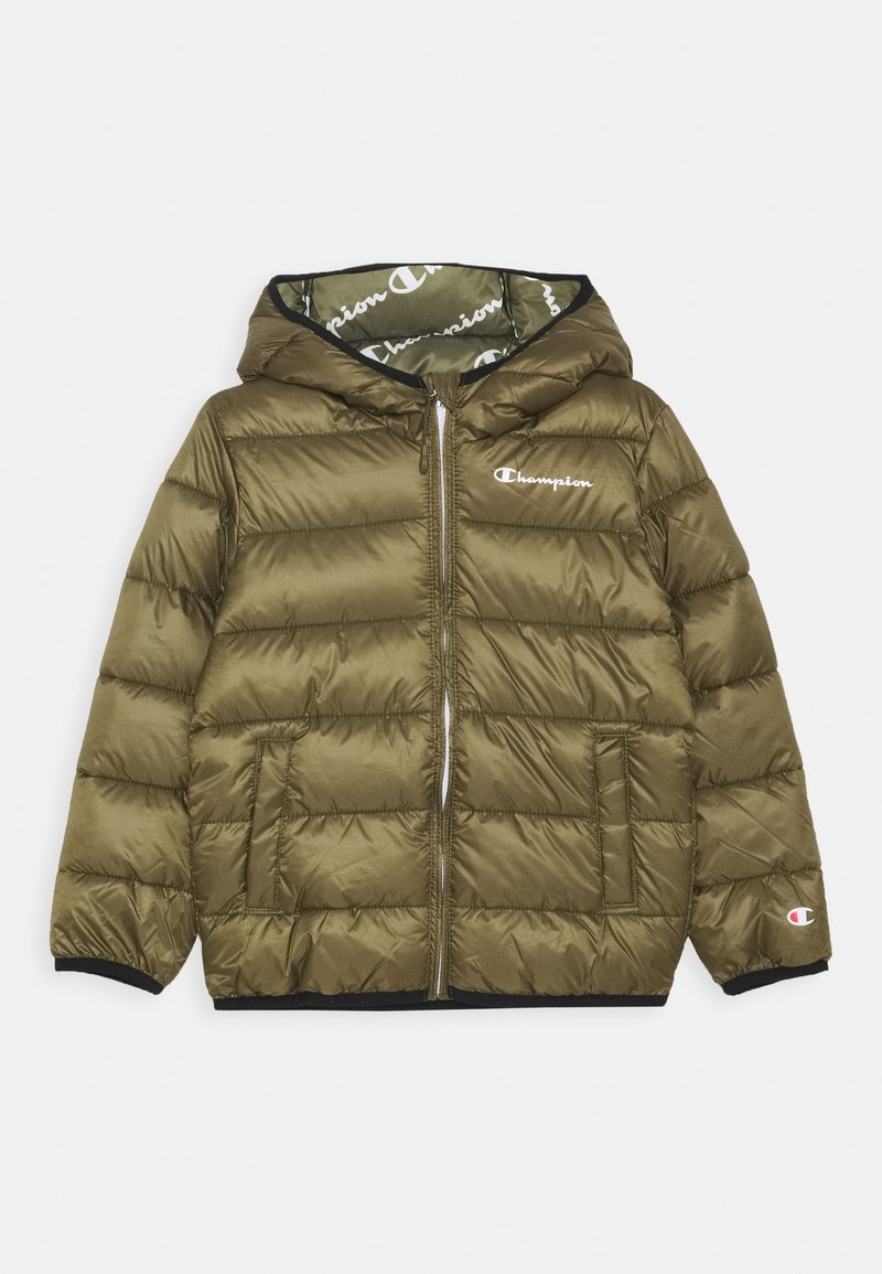 Champion - LEGACY OUTDOOR HOODED JACKET UNISEX - Zimní bunda - khaki