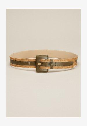 DIALOGO - Cinturón - verde militare/cammello
