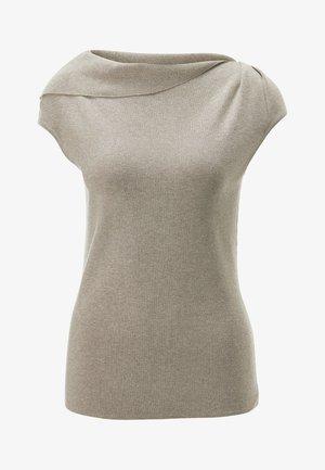 Print T-shirt - taupe/melange