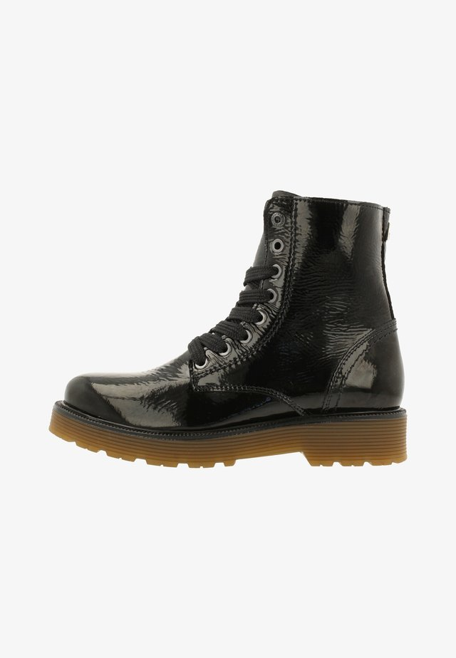 DEMI HIGH PAT - Bottines à lacets - black