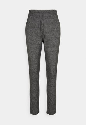 ONLPOPTRASH SOFT CHECK PANT - Trousers - black/cloud dancer
