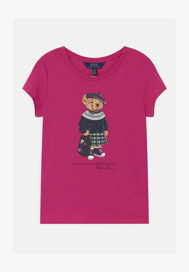 BEAR - T-shirt print - college pink