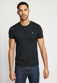 Abercrombie & Fitch - FRINGE CREW 3 PACK - T-shirt basic - black/light blue/dark blue