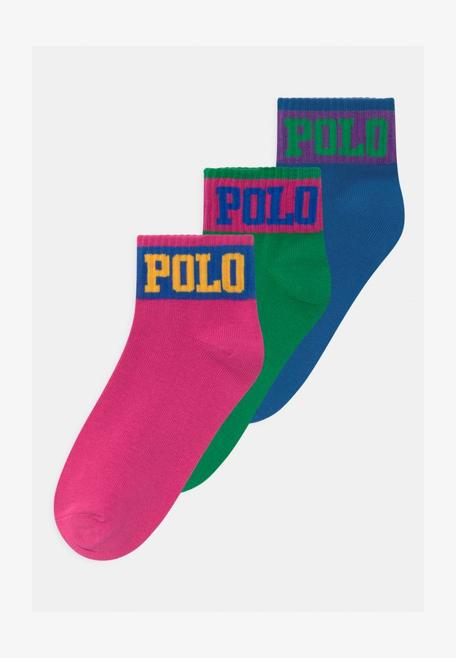 3 PACK - Calcetines - pink/blue/green