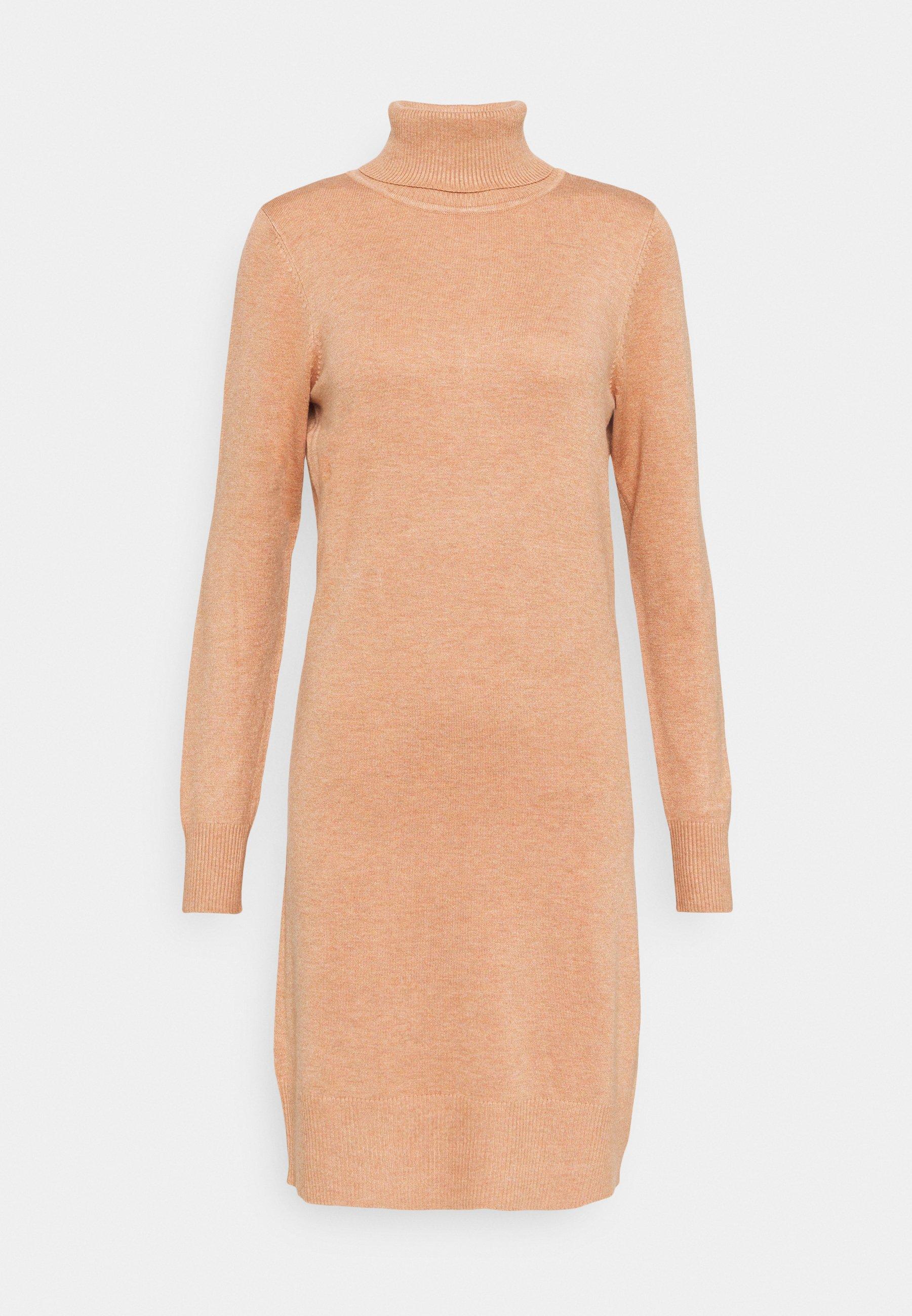 Esprit vestido señora marrón con cinturón np:79 festivo 95 € talla 42-44 XL-XXL Nuevo!!