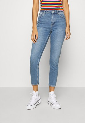 ONLERICA LIFE MID ANK - Straight leg jeans - light blue denim