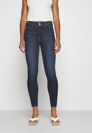 SHAPE UP BRAIDED WAISTBAND - Jeans Skinny Fit - dunkelblau