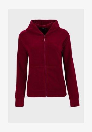 Sweater met rits - bordeaux
