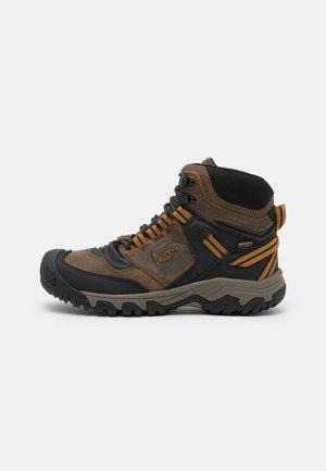 RIDGE FLEX MID WP - Obuwie hikingowe - bison/golden brown