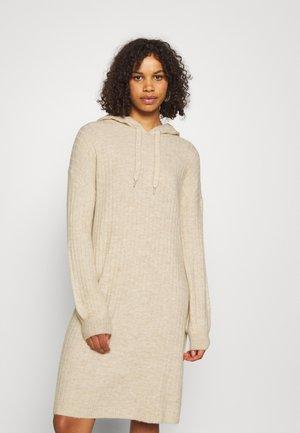 ONLKARINNA LONG HOOD DRESS - Jumper dress - pumice stone melange
