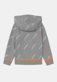 Automobili Lamborghini Kidswear - ALLOVER LOGOSCRIPT HOODIE - Sweatshirt - grey antares - 1
