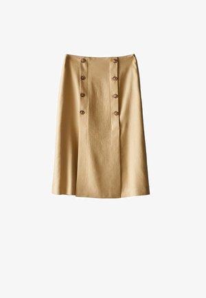 MIT SCHLITZEN UND KNÖPFEN - A-line skirt - gold
