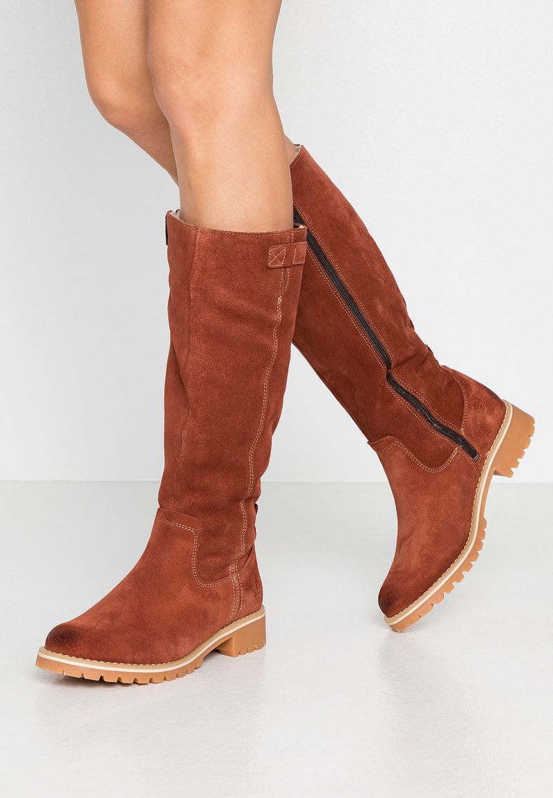 s.Oliver - Winter boots - cognac