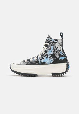 RUN STAR HIKE FLORAL FUSION PLATFORM - Sneakers alte - university blue/black/egret