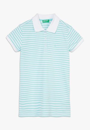 Polo - light blue/white