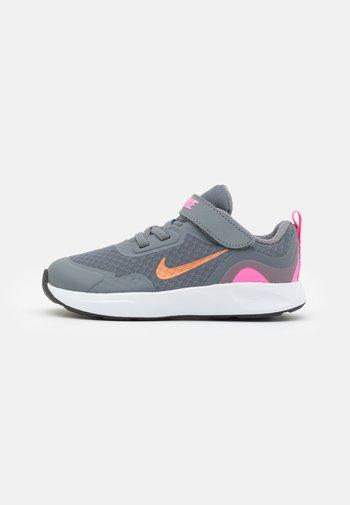 WEARALLDAY UNISEX - Trainers - smoke grey/metallic copper/pink glow