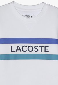Lacoste Sport - CREW NECK - Mikina - white/cuba obscurity/navy blue - 3