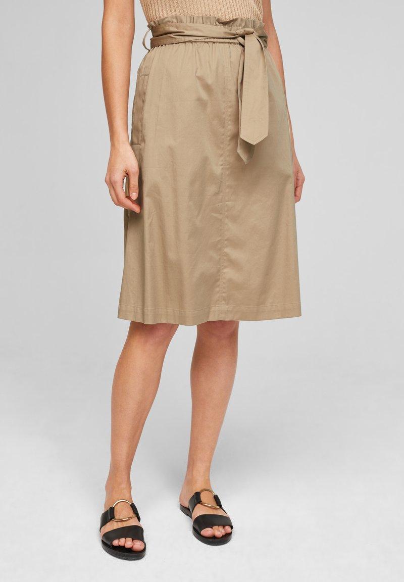 s.Oliver BLACK LABEL - A-line skirt - warm sand