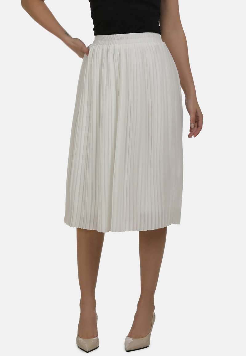 DreiMaster - Áčková sukně - wollweiss