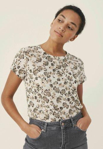 KASSIMAPW  - T-shirt print - flower print, vetiver