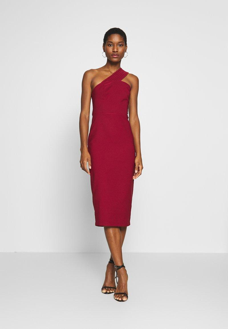 Trendyol - Vestido de cóctel - burgundy