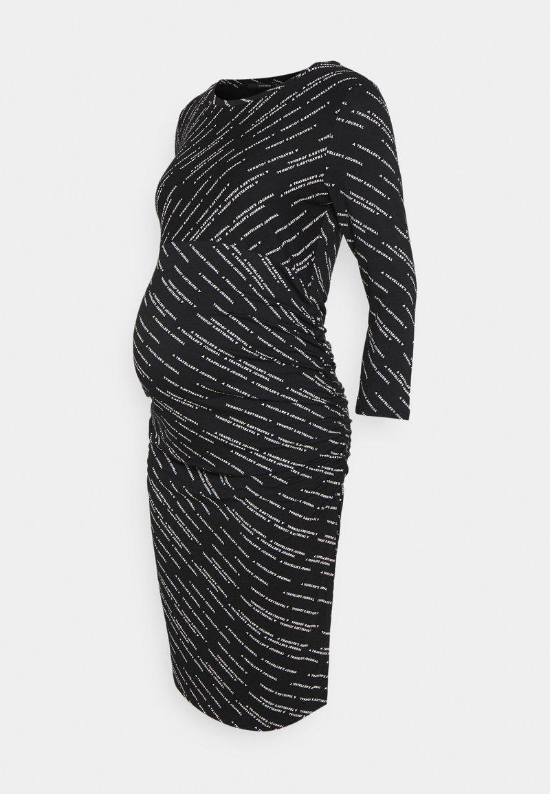 Supermom - DRESS TEXT - Žerzejové šaty - black