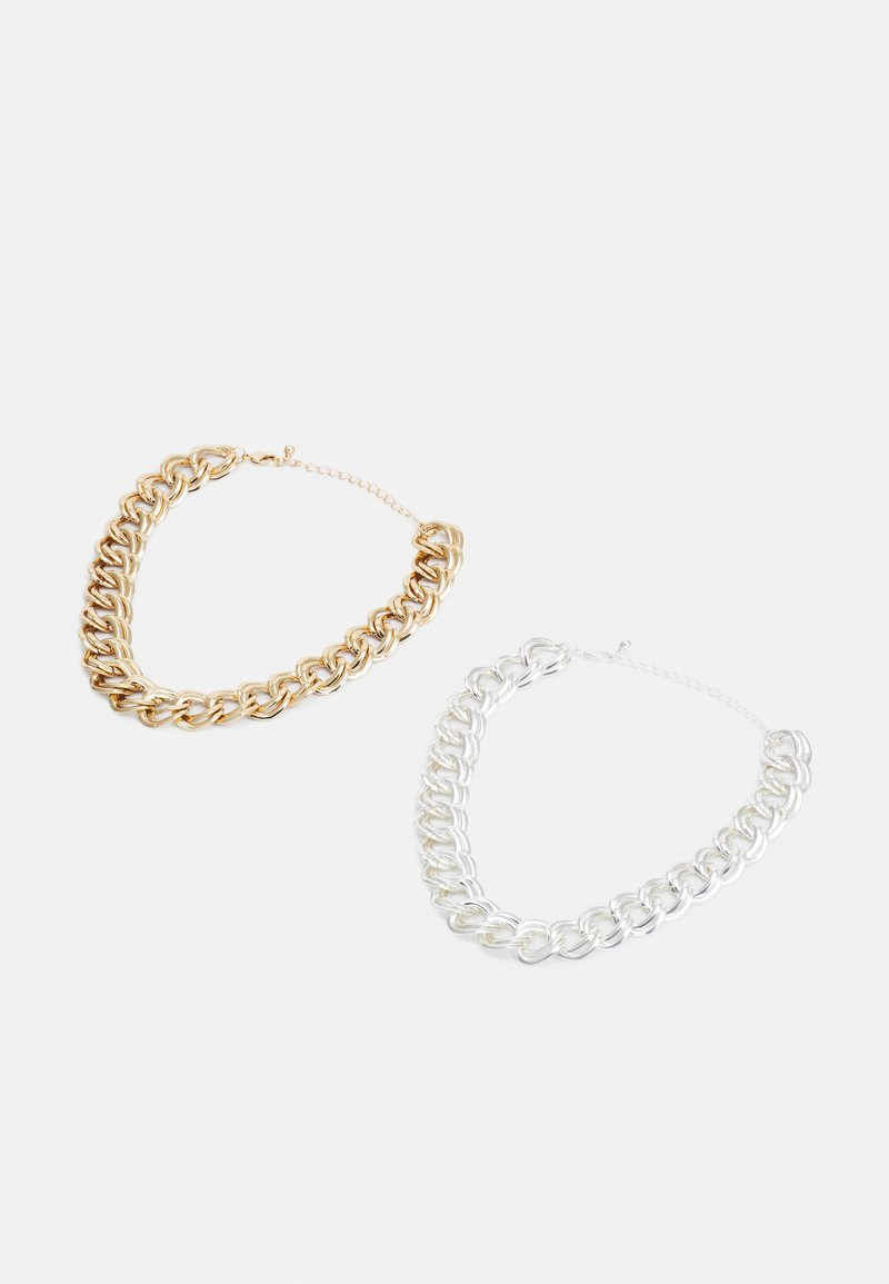 Monki - JENNA NECKLACE 2 PACK - Collana - silver-coloured/gold-coloured