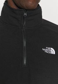 The North Face - GLACIER 1/4 ZIP  - Fleecetröja - black - 4