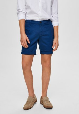 SLHSTRAIGHT PARIS - Shorts - estate blue
