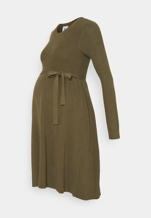 MLNEWZOE DRESS - Pletené šaty - khaki