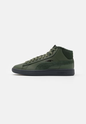 SMASH V2 MID UNISEX - Baskets montantes - thyme/black/dark shadow