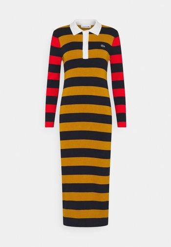 Jumper dress - enzian/navy blue/ redcurrant bush