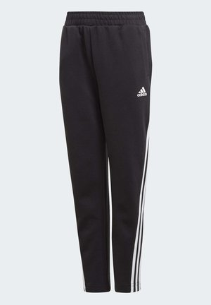 3-STRIPES DOUBLEKNIT TAPERED LEG TRACKSUIT BOTTOMS - Verryttelyhousut - black