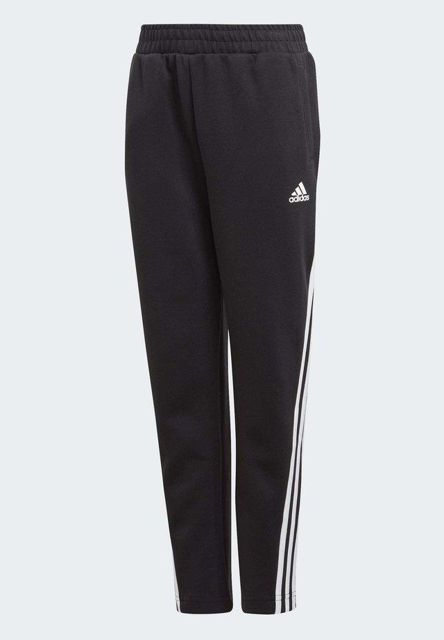 3-STRIPES DOUBLEKNIT TAPERED LEG TRACKSUIT BOTTOMS - Pantalon de survêtement - black