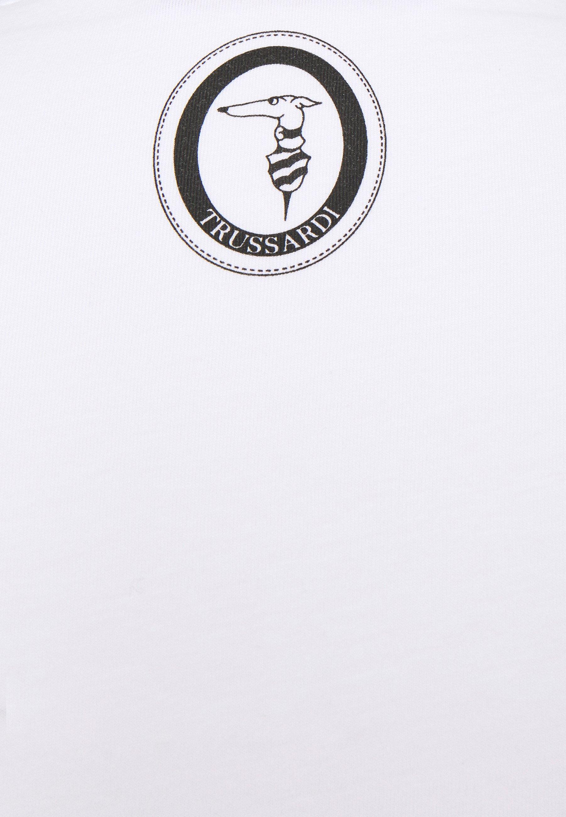 Trussardi PURE CLOSE FIT - Print T-shirt - white ihrfJ