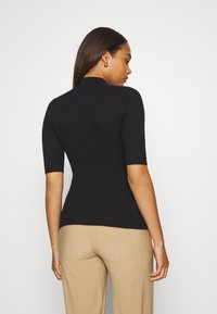 Even&Odd - BASIC- elbow sleeve jumper - Pullover - black - 2