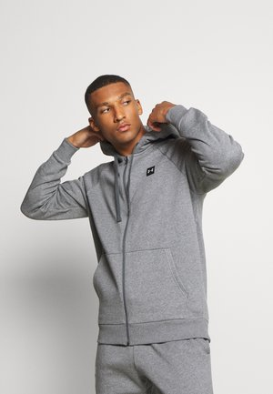RIVAL HOODIE - Zip-up hoodie - pitch gray light heather/onyx white