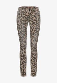 Street One - MIT LEO - Jeans Skinny Fit - braun - 3