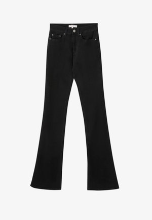Bootcut jeans - mottled black