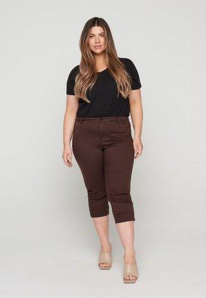Short en jean - dark brown