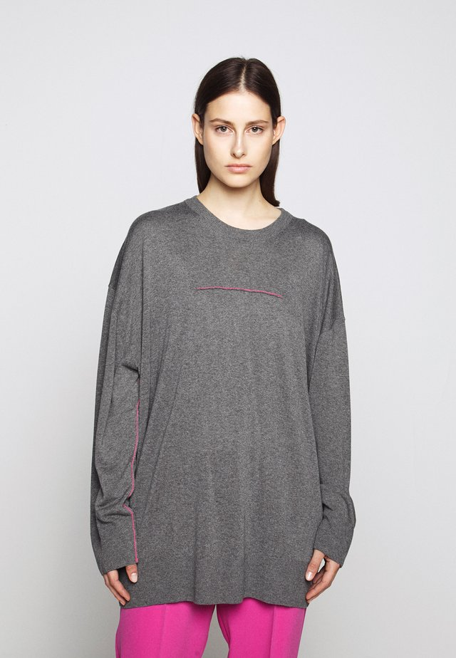 THIN - Strickpullover - grey melange