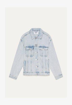 MIT PALMENPRINT  - Veste en jean - light blue