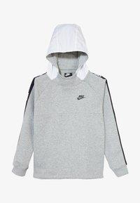 Nike Sportswear - HYBRID  - Hoodie - white/black/dark grey heather - 3