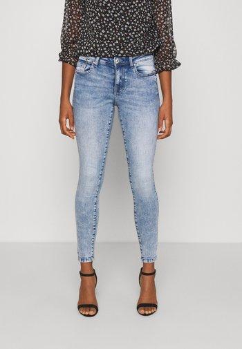 ONLISA ZIP - Skinny džíny - light blue denim