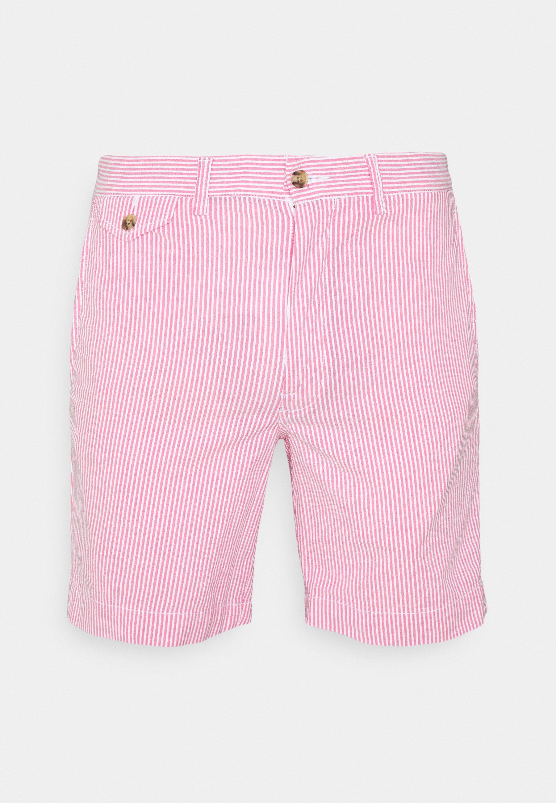 Men SEERSUCKER - Shorts - pink/white