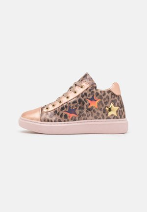 LEATHER - High-top trainers - rose gold